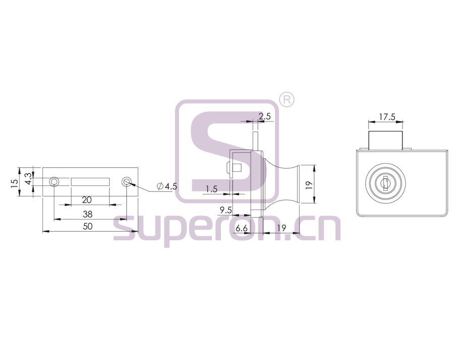 03-409-Z-q   Glass Lock, #409