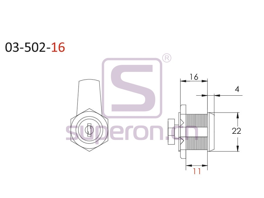 03-502-16-q | D17.5xL16mm