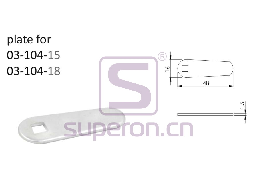 03-502-plate | Lock with round key
