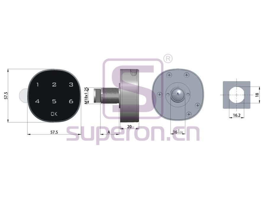 03-620-q   Lock wıth code