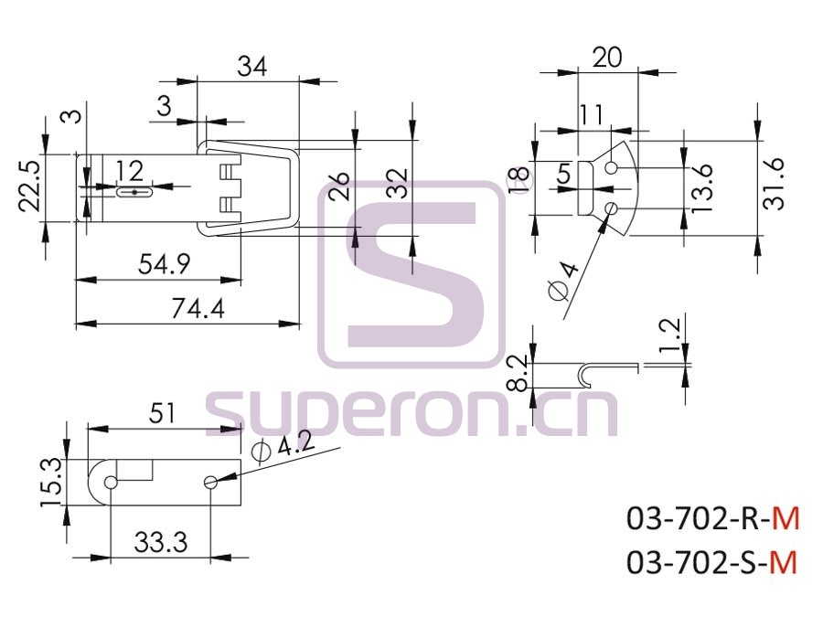 03-702-M-q   Lock for boxes