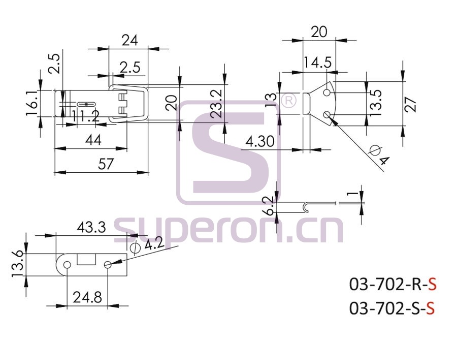 03-702-S-q   Lock for boxes