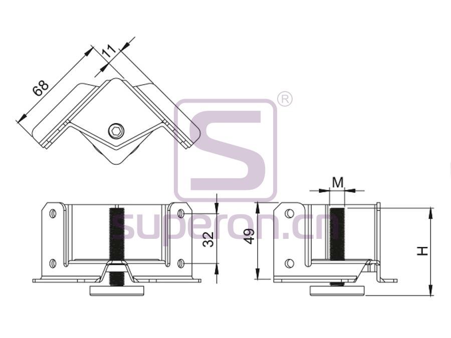 04-306-q   Furniture foot