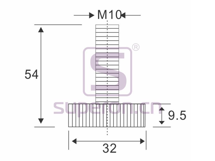 04-521-x1 | Plastic foot, d25/h15