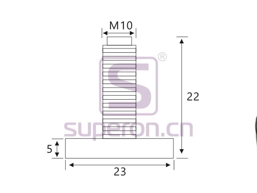 04-522-q   Plastic foot