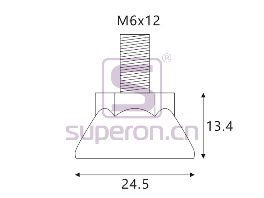 04-536-q   Leveller, D24.5/h13.4