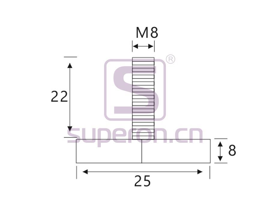 04-546-q | Leveller, d25/h8