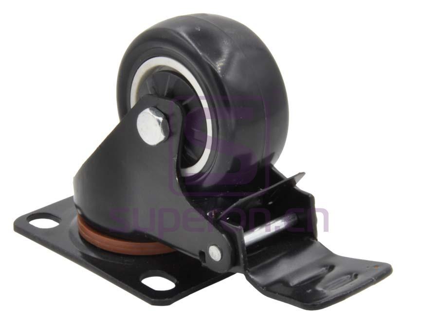 04-721-x | Steel castor, w/ plate & brake