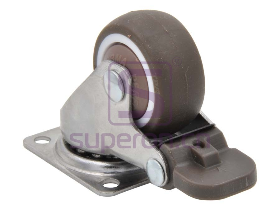 04-733-x | Steel castor, w/ plate & brake