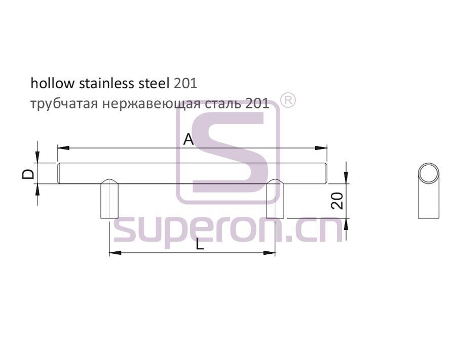 05-1003-q | Furniture handle, hollow steel
