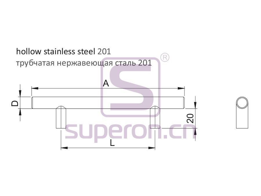 05-1004-q | Furniture handle, hollow, SS201