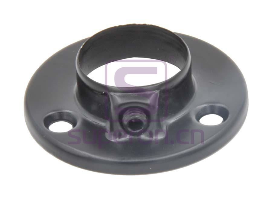 06-101-black | Flange with fix screw, steel