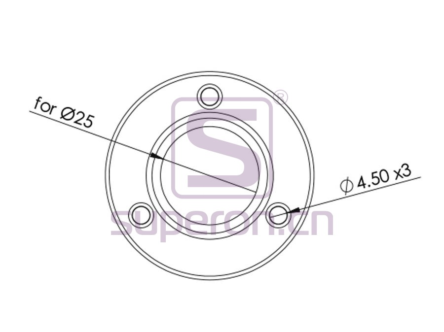 06-106-q | Flange with fix screw, ss