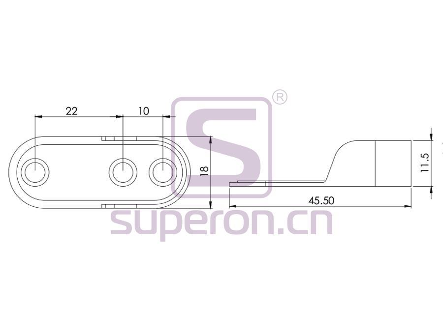 06-111-q | Tube flange, steel, 15x30mm