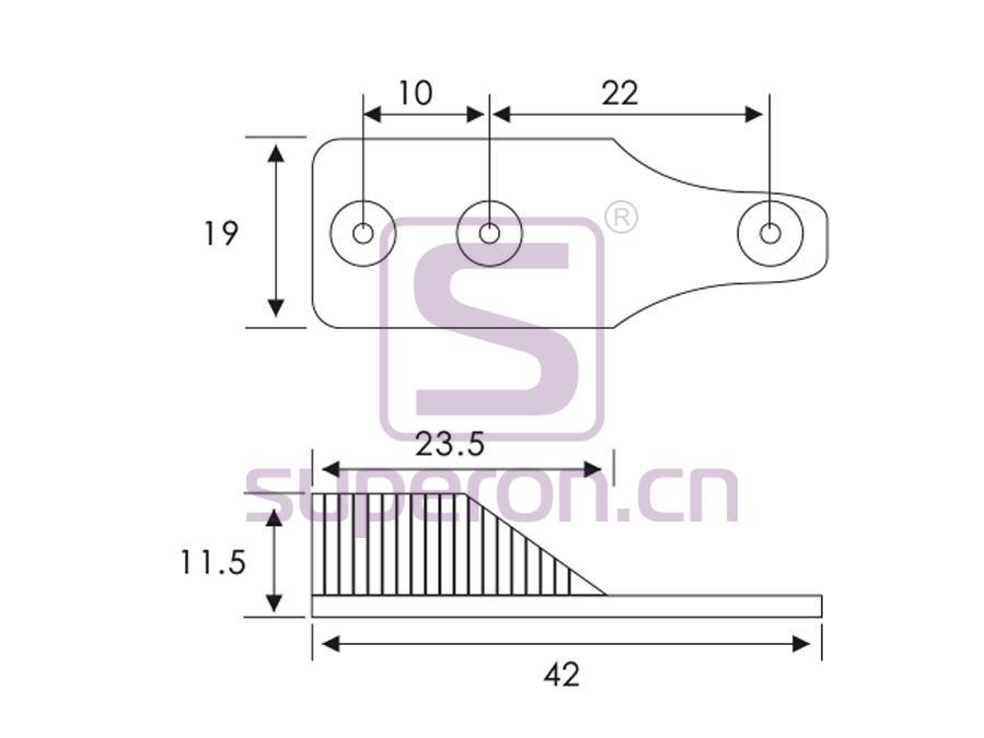 06-116-q | Tube flange, 15x30mm