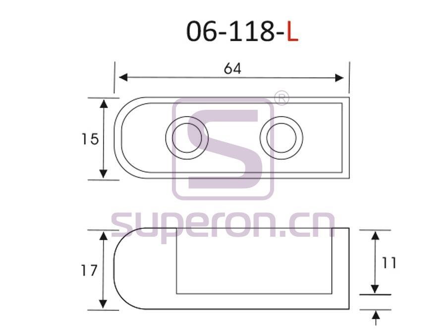 06-118-L-q | Tube flange, 15x30mm