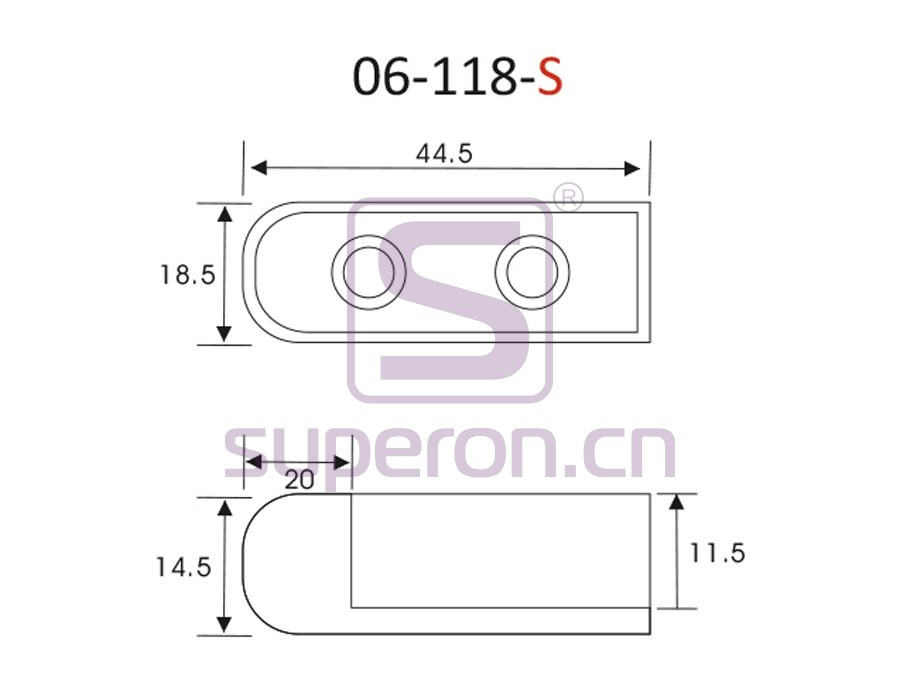 06-118-S-q | Tube flange, 15x30mm