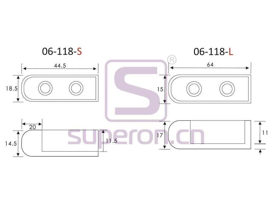 06-118-q | Tube flange, 15x30mm