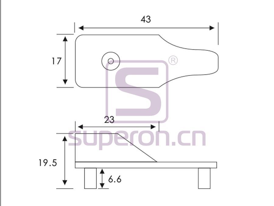 06-120-q   Tube flange, 15x30mm