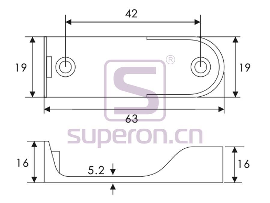 06-121-q | Tube flange, 15x30mm