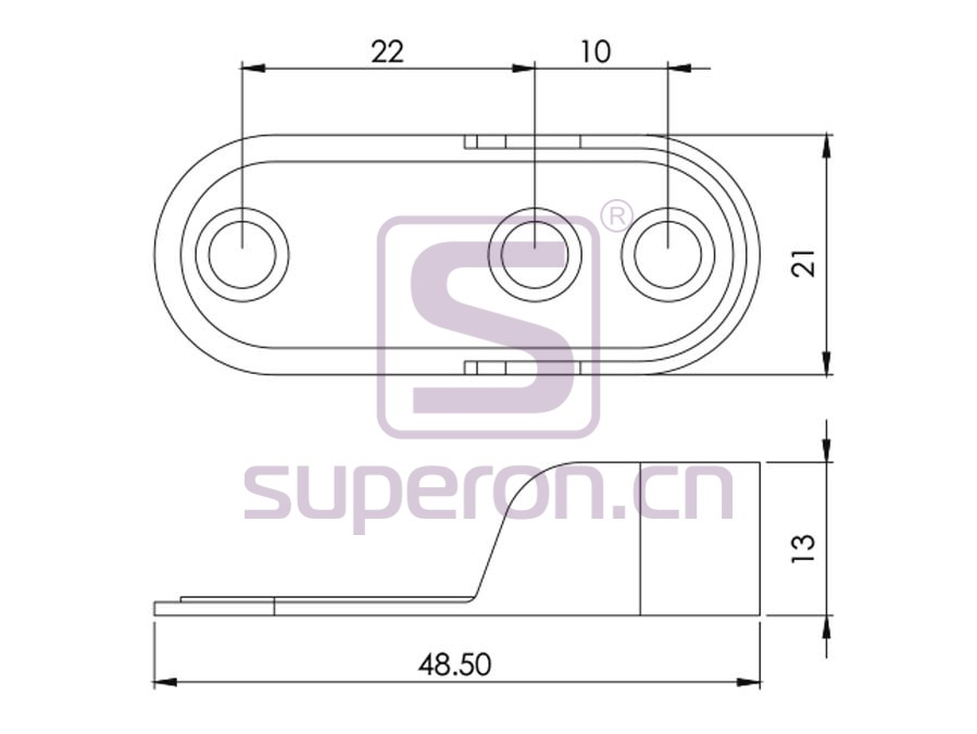 06-122-q | Plastic oval tube support