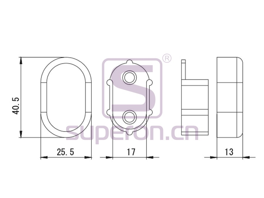 06-123-q | Oval tube support