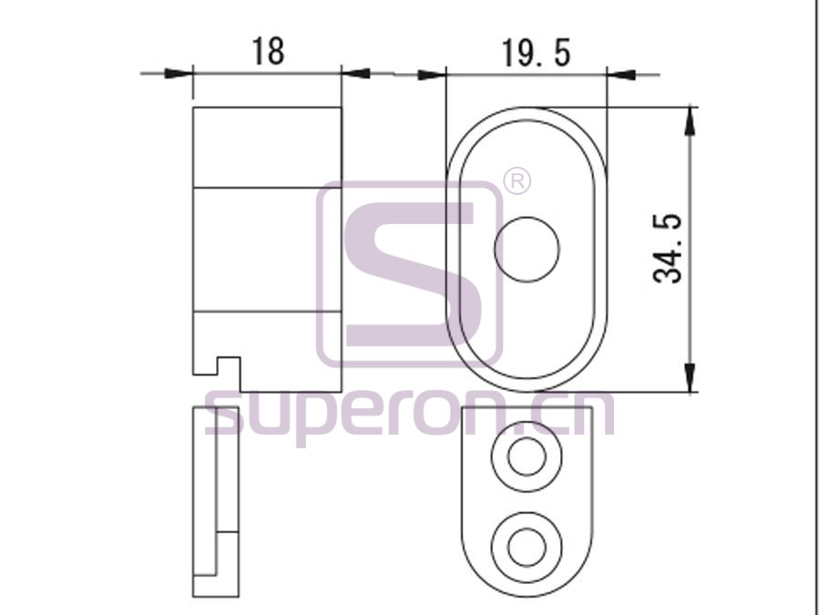 06-124-q | Oval tube support