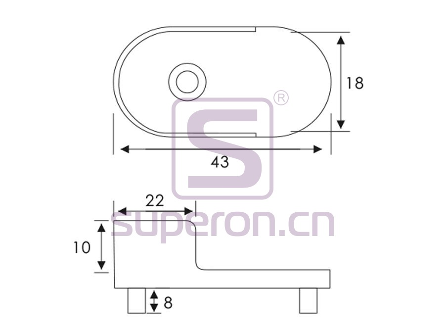 06-125-q | Tube flange, 15x30mm