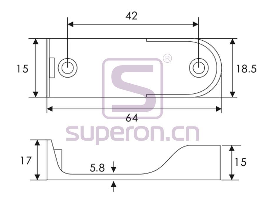 06-126-q | Tube flange, 15x30mm