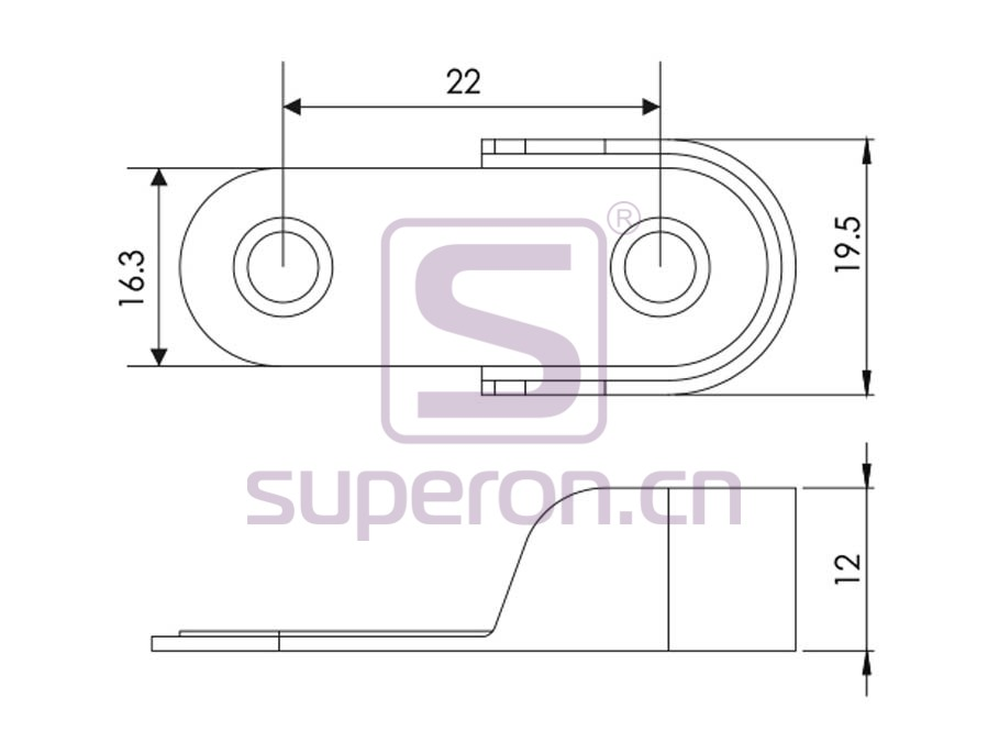 06-127-q | Tube flange, 15x30mm
