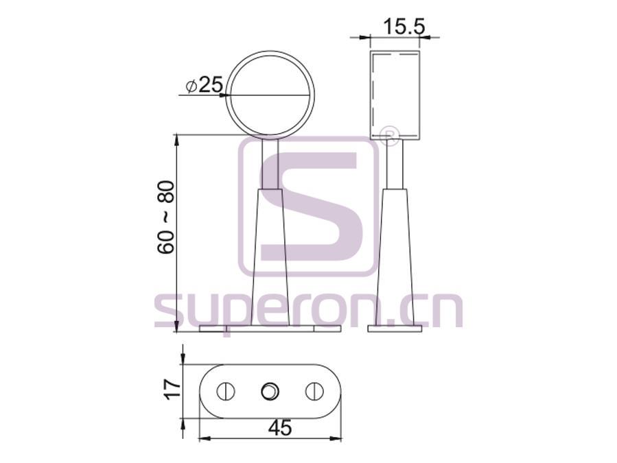 06-132-q | Tube holder (blind-ended)