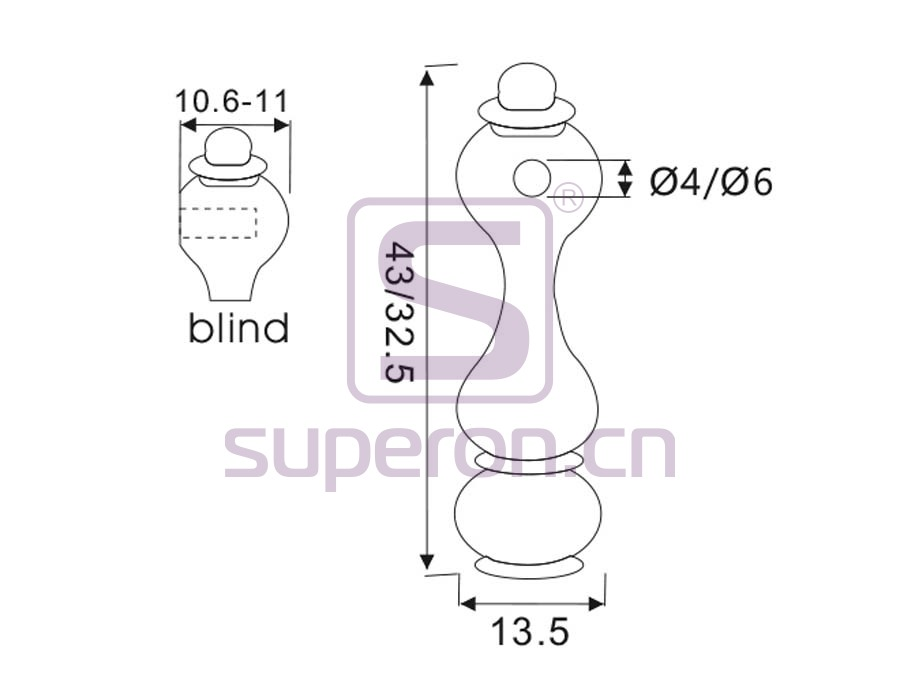 06-136-q | Tube holder (blind-ended)