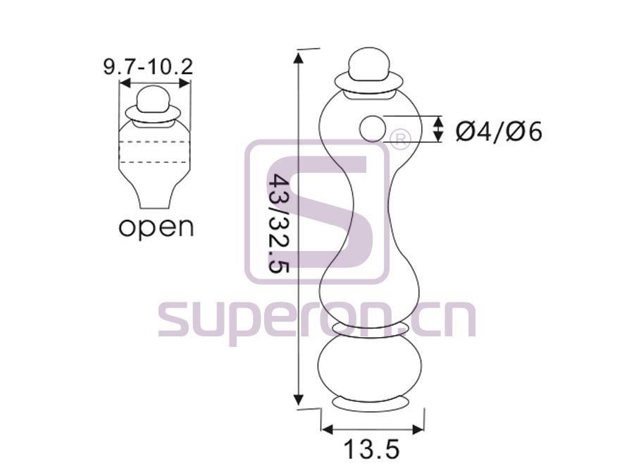 06-137-q | Tube holder (open-ended)