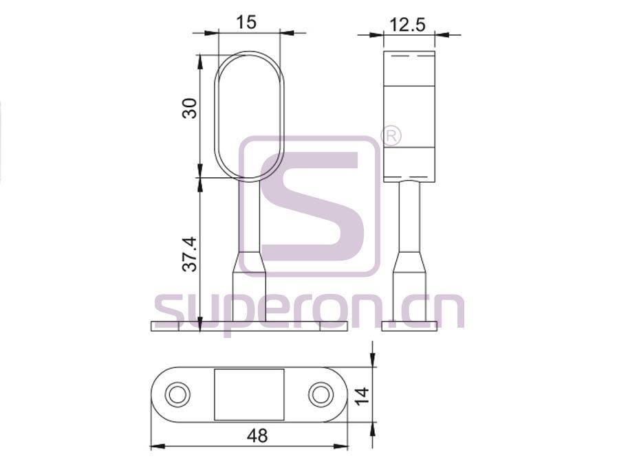 06-146-q | Tube holder (blind-ended)