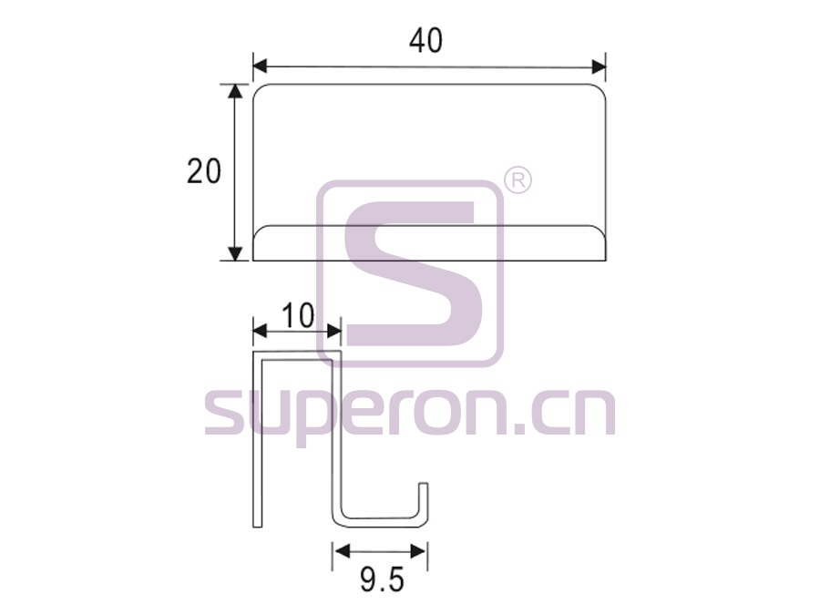 07-119-q | Plate for glass door