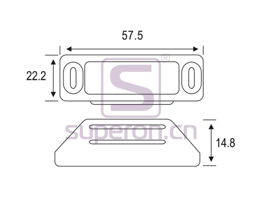 07-222-q | Magnetic catch (zinc alloy)