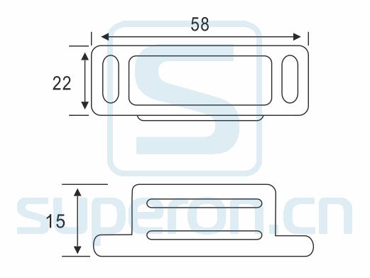 07-224-L-q | Magnetic catch (zinc alloy)