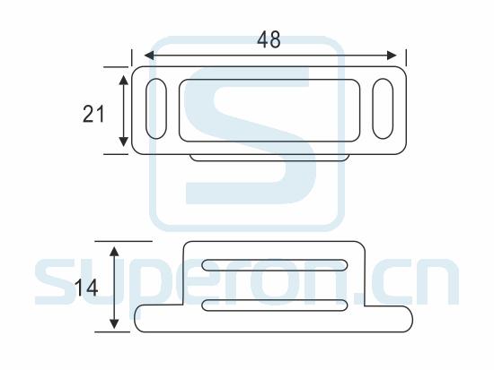 07-224-S-q | Magnetic catch (zinc alloy)