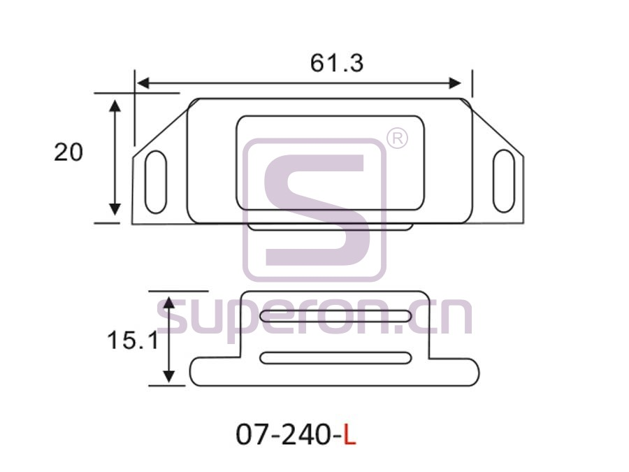 07-240-L-q | Magnetic catch (stainlesssteel)
