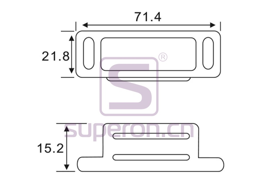 07-242-q   Magnetic catch (stainlesssteel)
