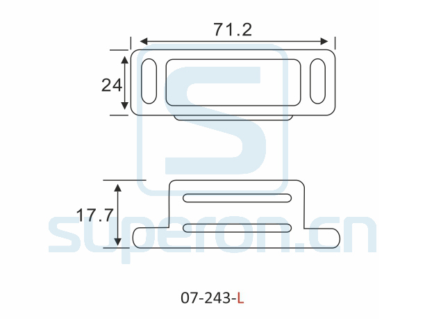 07-243-L-q | Magnetic catch (stainlesssteel)