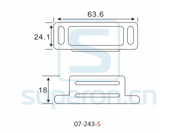 07-243-S-q | Magnetic catch (stainlesssteel)