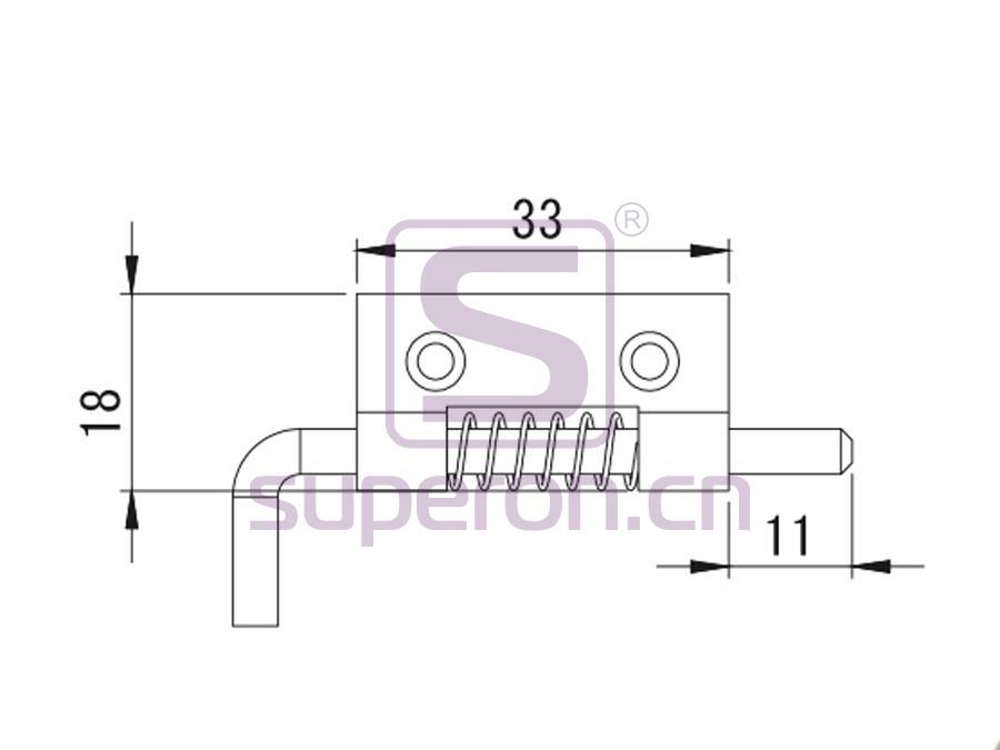 07-325-q   Latch, steel
