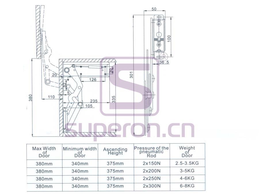 07-402-B | Vertical flap lift