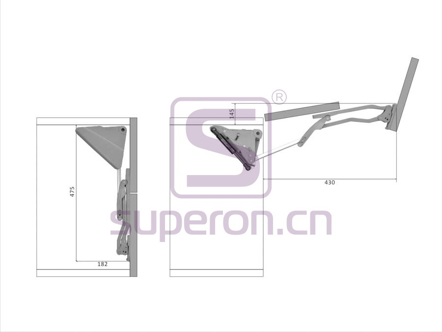 07-420-x2 | Flap lift (for 2 doors H=600-700mm)
