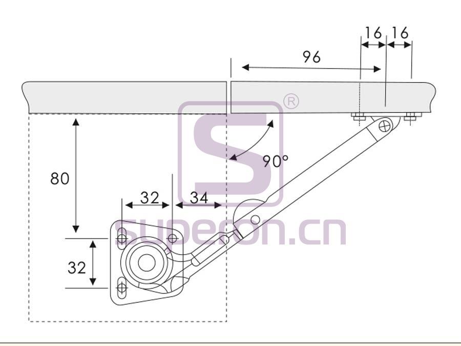 07-632-q | Hydraulic bracket motion, zamak