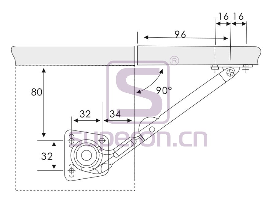 07-634-q | Hydraulic soft bracket, steel arm