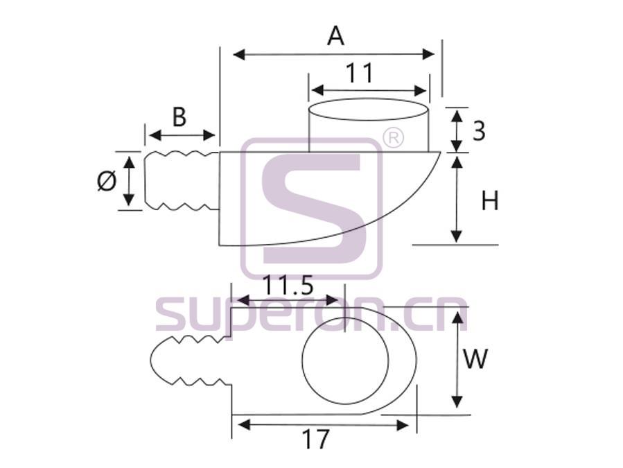 08-003-q | Shelf support