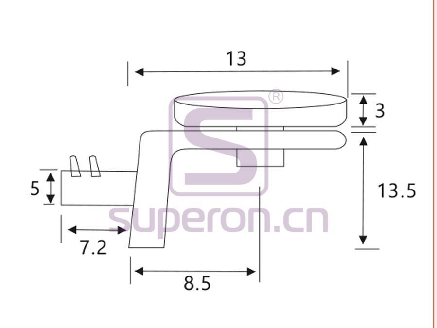 08-008-q   Shelf support, L shaped