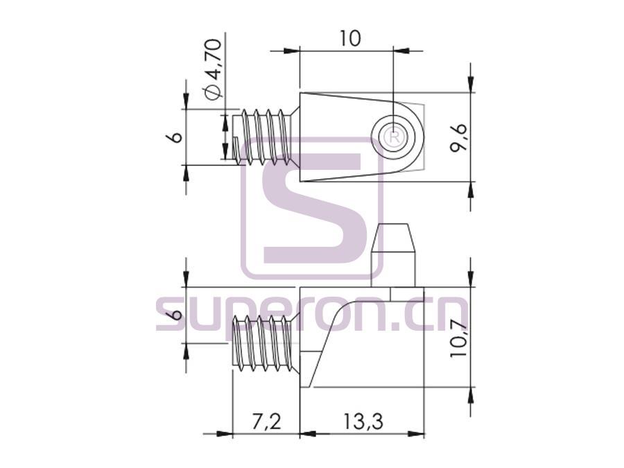 08-009-q | Shelf support, L shaped